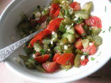 Sałatka pomidorowo-ogórkowa z pietruszką