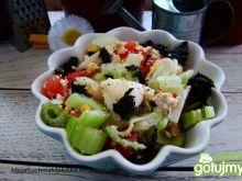 Sałatka pomidorowo- selerowa z pokrzywą