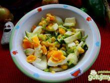 Sałatka porowo-jajeczna z gruszką