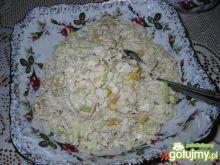 Sałatka porowo - kurczakowa