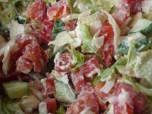 Sałatka prawie grecka (bez oliwek)