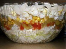 Sałatka ryżowa - warstwowa