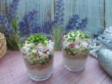 Sałatka ryżowa (warstwowa)