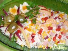 Sałatka ryżowa z mandarynką