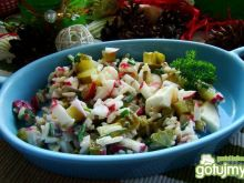 Sałatka ryżowa z mozzarellą