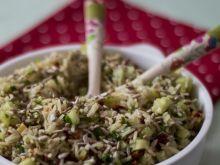 Sałatka ryżowa z olejem z pestek dyni