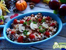 Sałatka ryżowa z pieczarkami