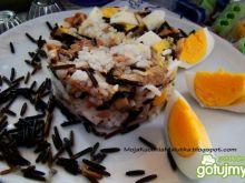 Sałatka ryżowa z tuńczykiem i pieczarką