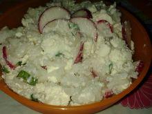 Sałatka ryżowa z twarogiem
