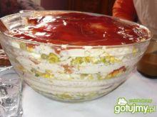 Sałatka ryżowa z warstwami