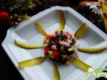 sałatka ryżowo-karpiowa