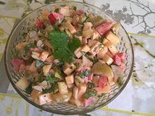 Sałatka serowa z natką pietruszki
