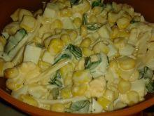Sałatka serowo – kukurydziana
