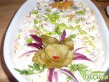 Sałatka  sledziowa z kaki