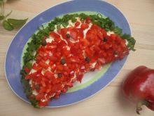 Sałatka w kształcie arbuza