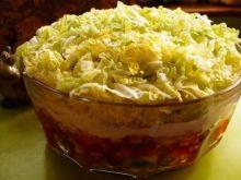 Salatka warstwowa z kapusta pekinska