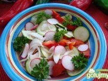 Sałatka warzywna z cukini i rzodkiewki