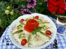 Sałatka warzywna z ryżem