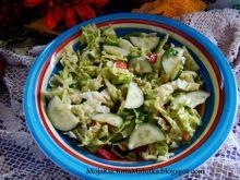 Sałatka warzywna z sosem musztardowym