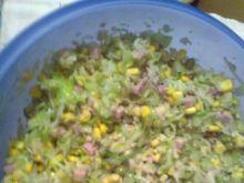 Sałatka warzywna z szynką