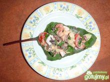 Salatka wiosenna na botwinie