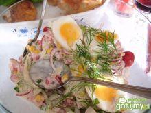 Sałatka wiosenna z jajkiem wg Joanna19
