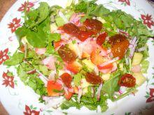 Sałatka z ananasem, arbuzem i kolendrą