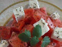 Sałatka z arbuzem, fetą i miętą