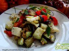 Sałatka z bakłażanu i mozzarelli