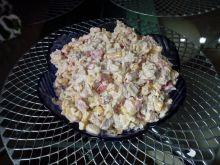Sałatka z białą fasolą