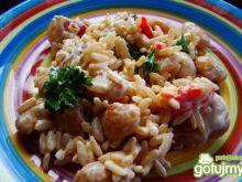 Sałatka z białej fasoli i ryżu brązowego