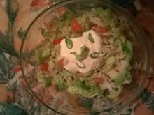 Sałatka z białej rzodkwi i pomidora