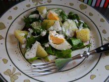 Sałatka z botwinki i jajka