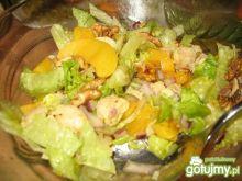 Sałatka z brzoskwiniami wg Berys18