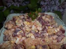 Sałatka z buraczków, ziemniaków i jajek
