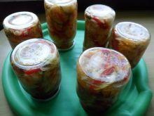 Sałatka z cukinii i papryki