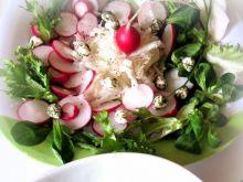 Sałatka z czerwonej i białej rzodkiewki