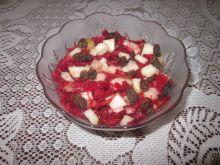 Sałatka z czerwonej kapusty i gruszki