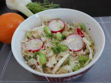 Sałatka z dzikiego ryżu, soi i fenkuł