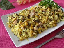 Sałatka z dzikim ryżem i kurczakiem