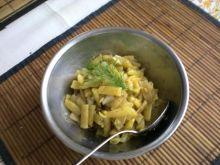 Sałatka z fasolki szparagowej.