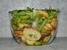 Sałatka z fasolki szparagowej i  ziemniaków