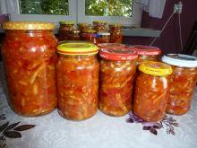 Sałatka z fasolki szparagowej - w słoiki