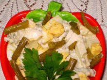 Sałatka z fasolki szparagowej z jajkami