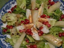 Salatka z granatem i melonem.