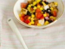 Sałatka z grillowanej kukurydzy