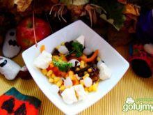 Sałatka z grzybkami mun i cebulką