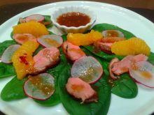 Sałatka z kaczką i sosem tamaryndowym