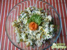 Sałatka z kalafiora z pieczonym mięsem