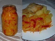 Sałatka z kapusty i papryki